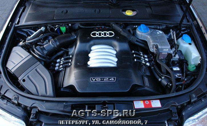 тороидальный газовый баллон на автомобиле Audi A4 24 V6 2002 с